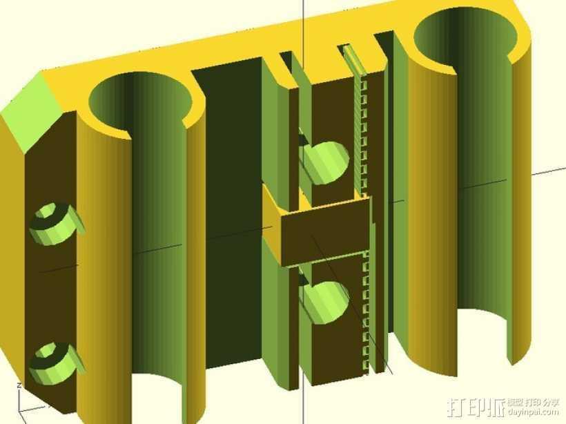 prusa i3打印机X轴固定件 3D打印模型渲染图