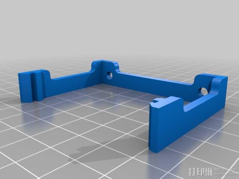 RAMPS 1.4电路板风扇支架 3D打印模型渲染图