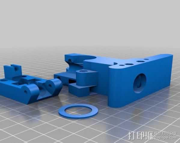 Greg's Wade挤出机 3D打印模型渲染图