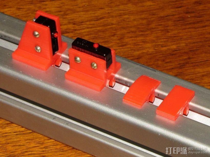 限位开关 导轨夹 3D打印模型渲染图
