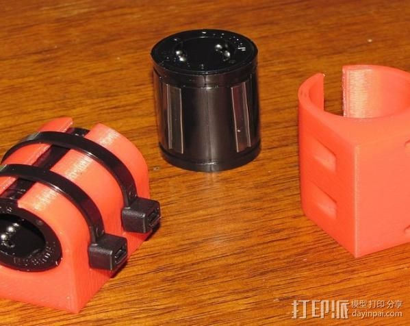 直线轴承套 3D打印模型渲染图