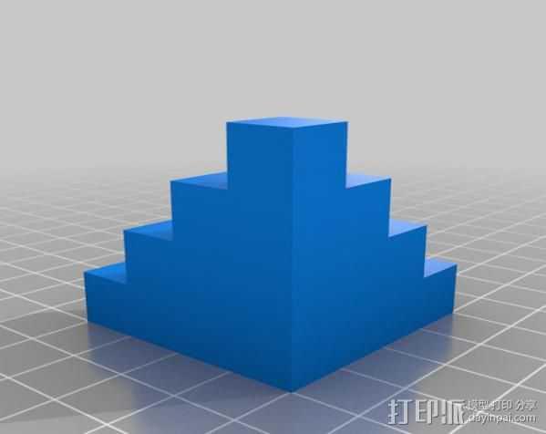 校准方块 校准器 3D打印模型渲染图