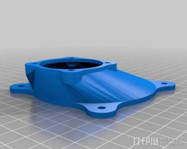风扇支架 风扇导管 3D打印模型渲染图