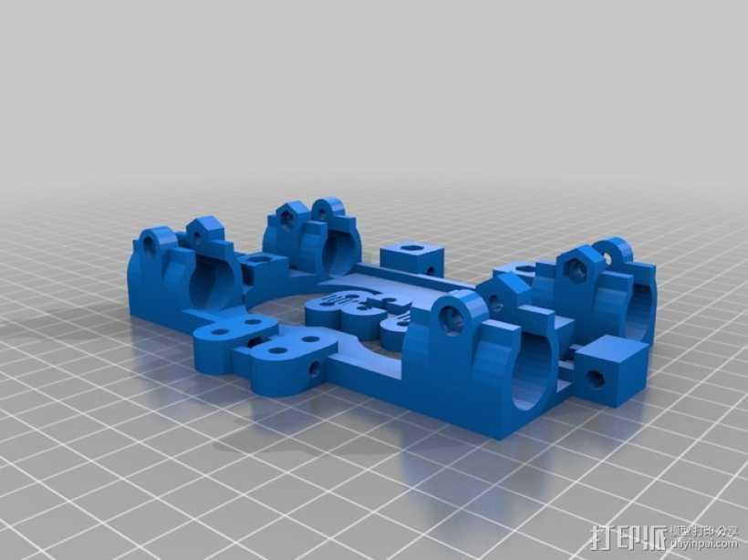 LM8UU轴承支架 皮带固定器  3D打印模型渲染图