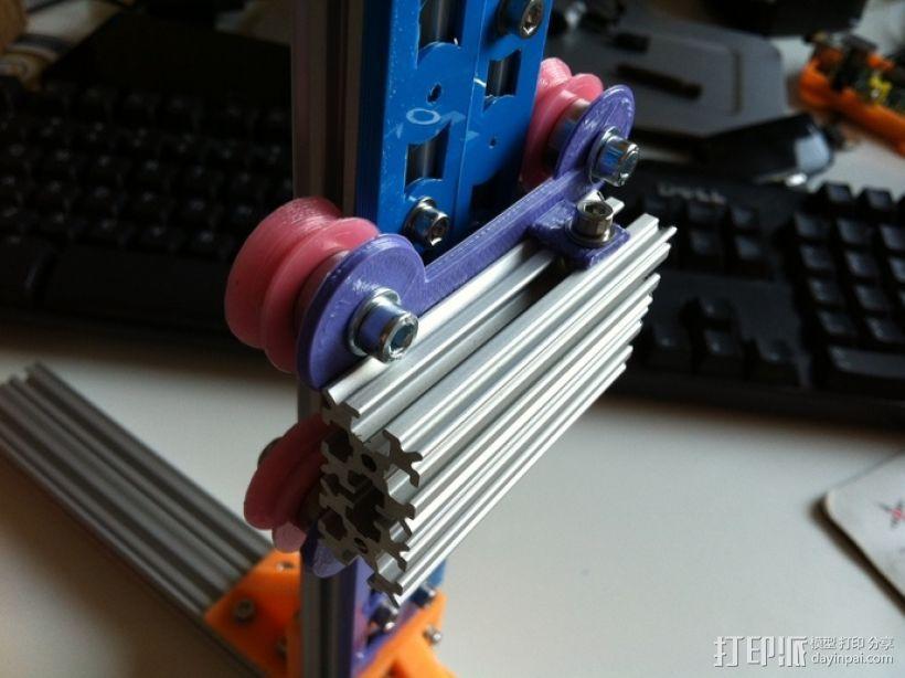 双横梁导轨支撑器 3D打印模型渲染图
