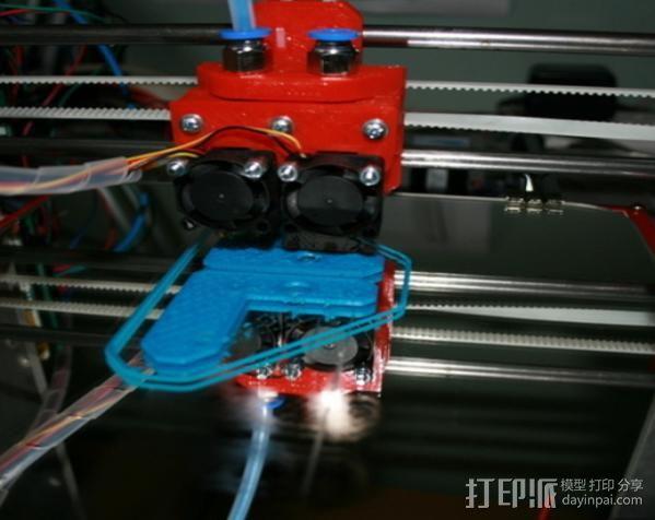 JHead 喷头支架 3D打印模型渲染图