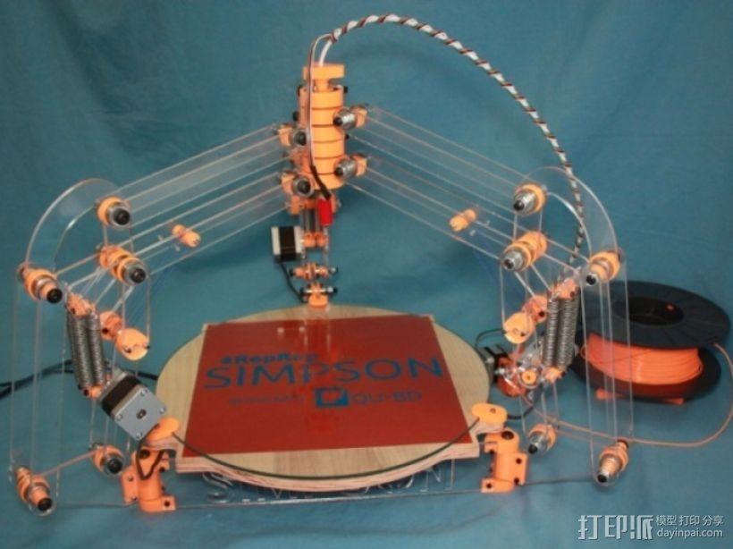 RepRap打印机 3D打印模型渲染图