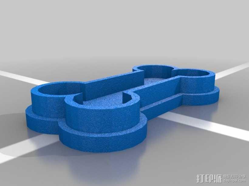 狗骨头饼干切割器 3D打印模型渲染图