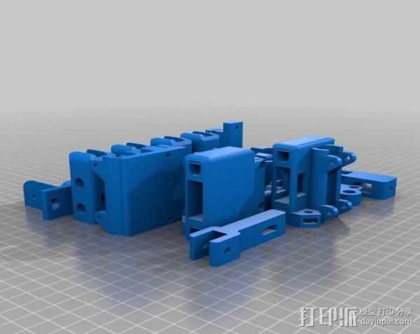 prusa i3打印机打印床套件 3D打印模型渲染图