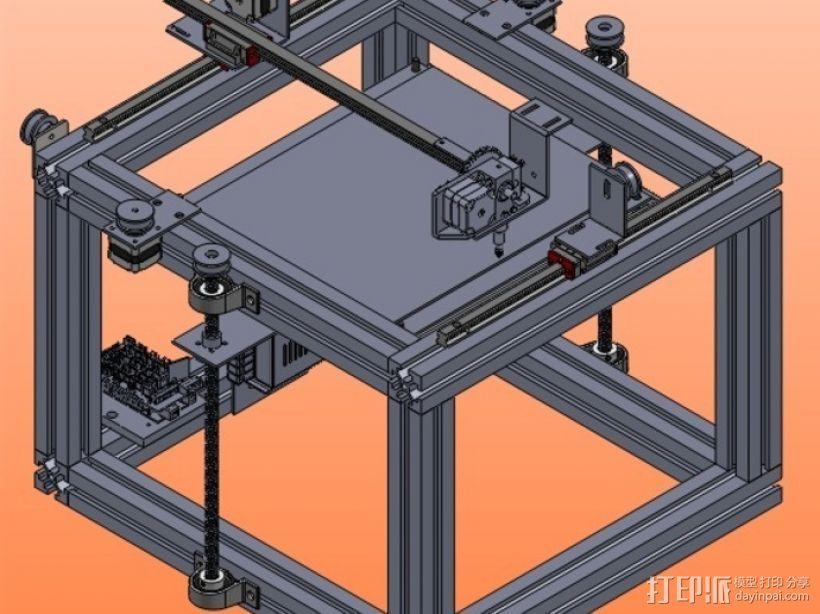 3d 打印机 3D打印模型渲染图