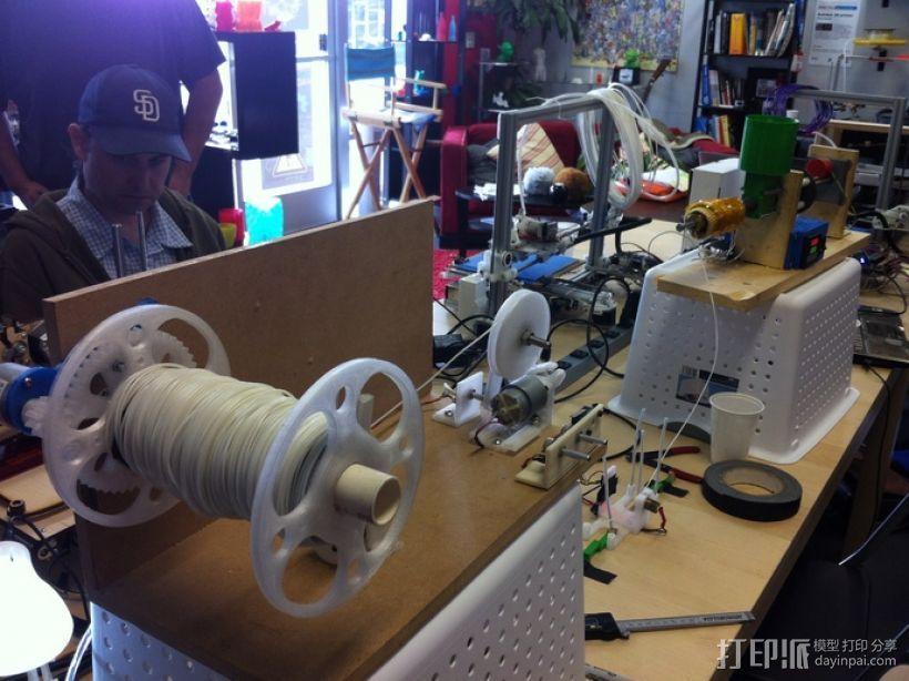 卷线器 线材卷 3D打印模型渲染图