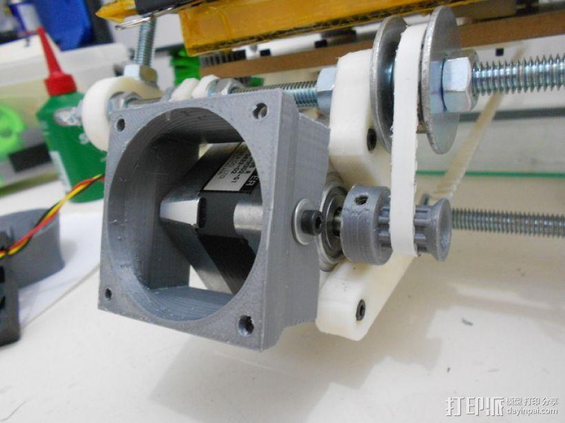 Nema 17马达散热风扇导管 3D打印模型渲染图