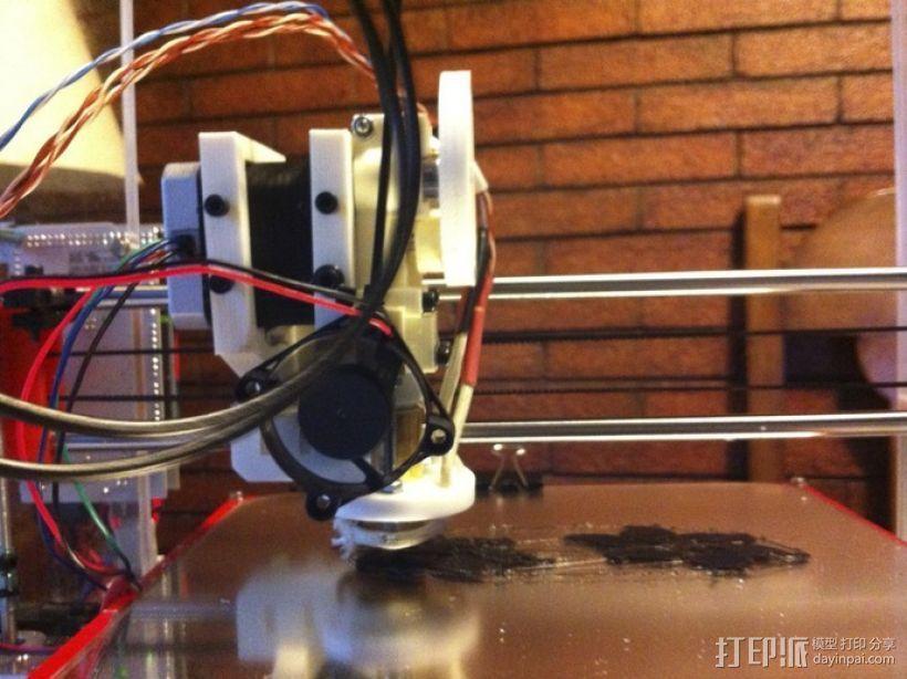 迷你挤出机 3D打印模型渲染图
