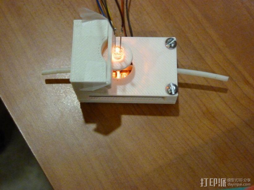材料传感器 3D打印模型渲染图