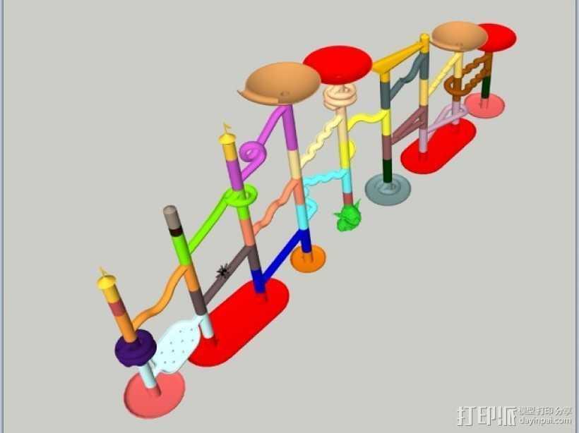 Marble Run游戏造型模型 3D打印模型渲染图