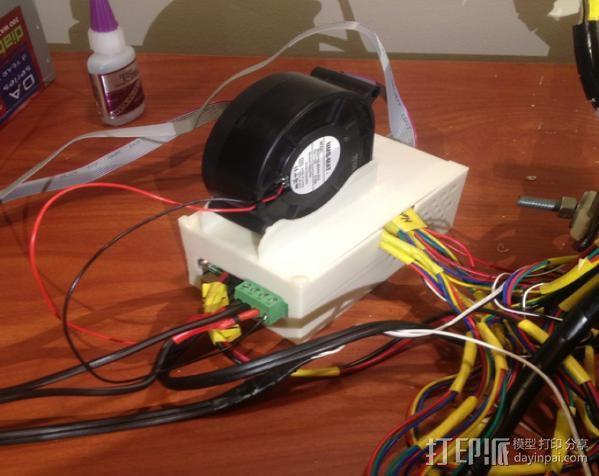 RAMPS 1.4 电路板保护盒 3D打印模型渲染图