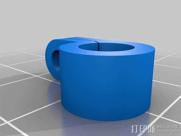 Solidoodle打印机的电缆夹 3D打印模型渲染图