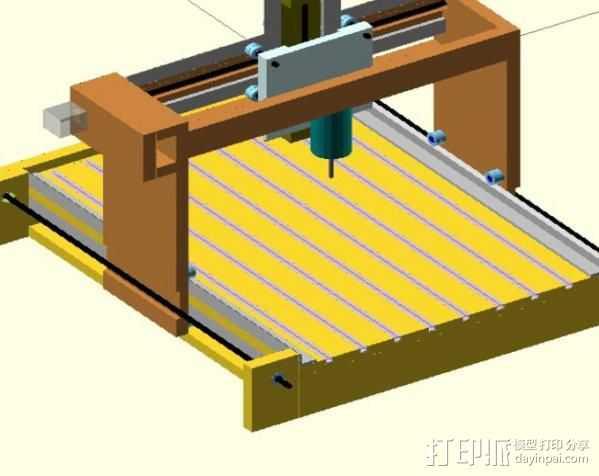 GantryCNC 3D打印机 3D打印模型渲染图
