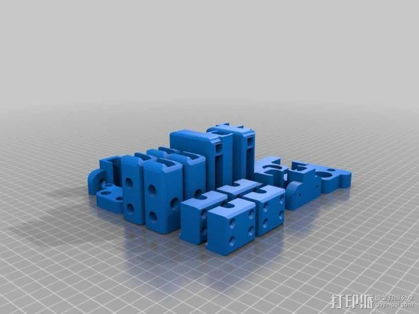 Prusa i3打印机打印床托盘 3D打印模型渲染图