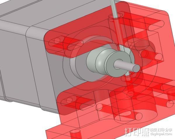 1.75毫米线材挤出机 3D打印模型渲染图