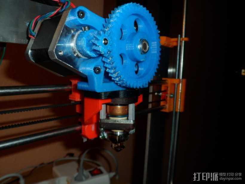 Gregs-Wade-挤出机支架 3D打印模型渲染图