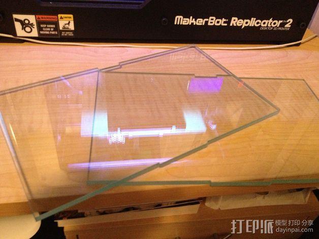 Replicator 2打印机的打印床 3D打印模型渲染图