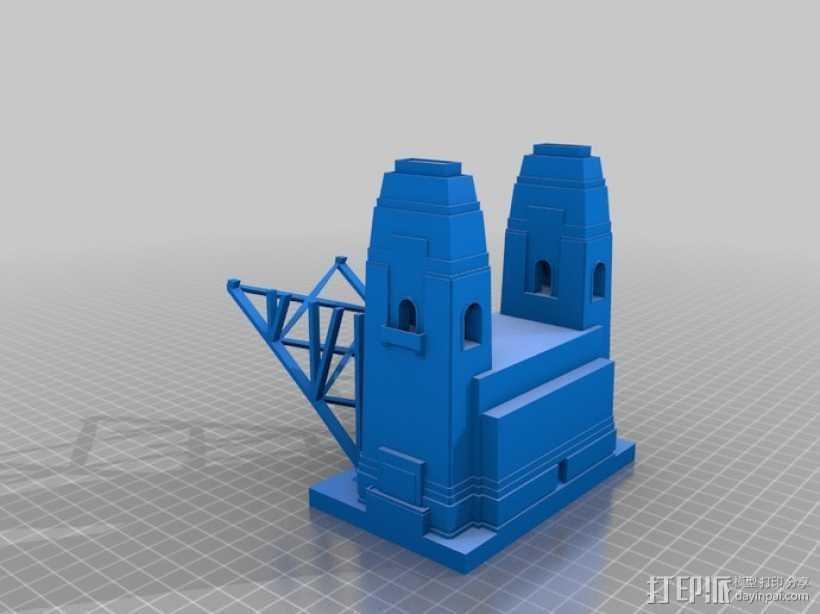 悉尼大桥 3D打印模型渲染图