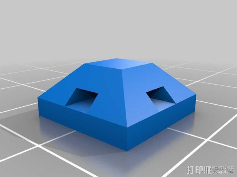 束线带支架 3D打印模型渲染图