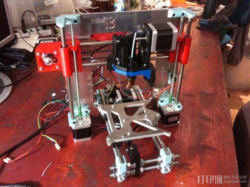 迷你 Prusa i3打印机 3D打印模型渲染图