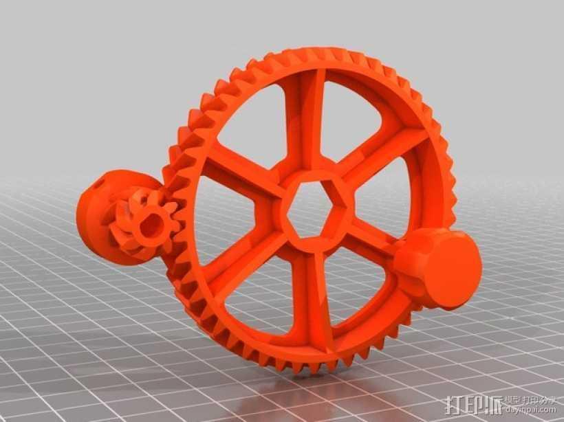 Ultimaker 打印机送料器齿轮 3D打印模型渲染图