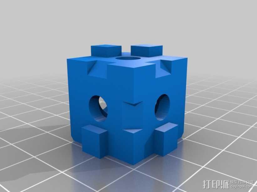 打印机拐角连接器 3D打印模型渲染图