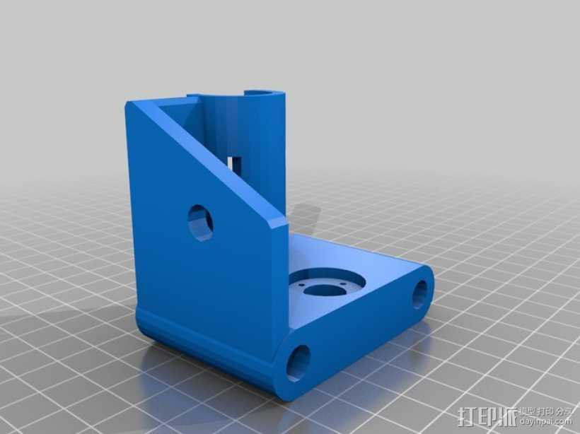 打印机X轴螺丝钉和轴承连接器 3D打印模型渲染图