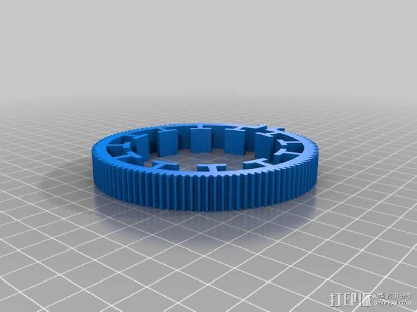 跟焦齿轮 3D打印模型渲染图