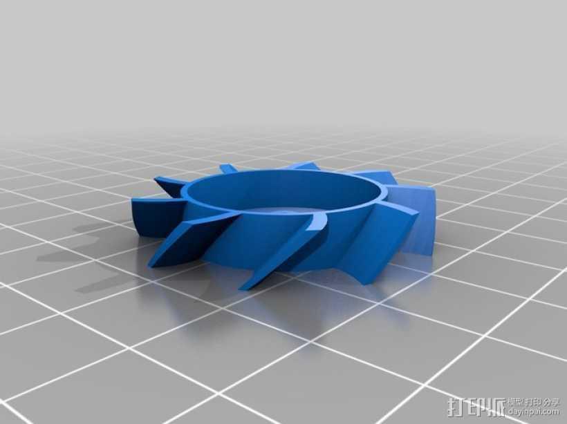 40毫米的风扇 3D打印模型渲染图