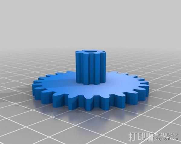减速齿轮 3D打印模型渲染图