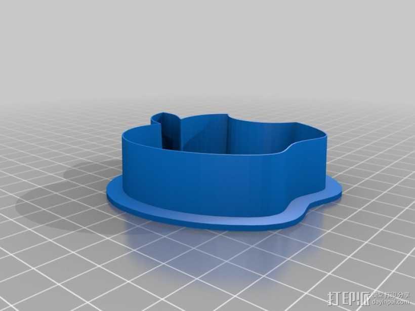 饼干切割器 苹果 3D打印模型渲染图