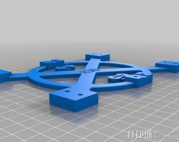 Mendel打印机Y轴部件 3D打印模型渲染图