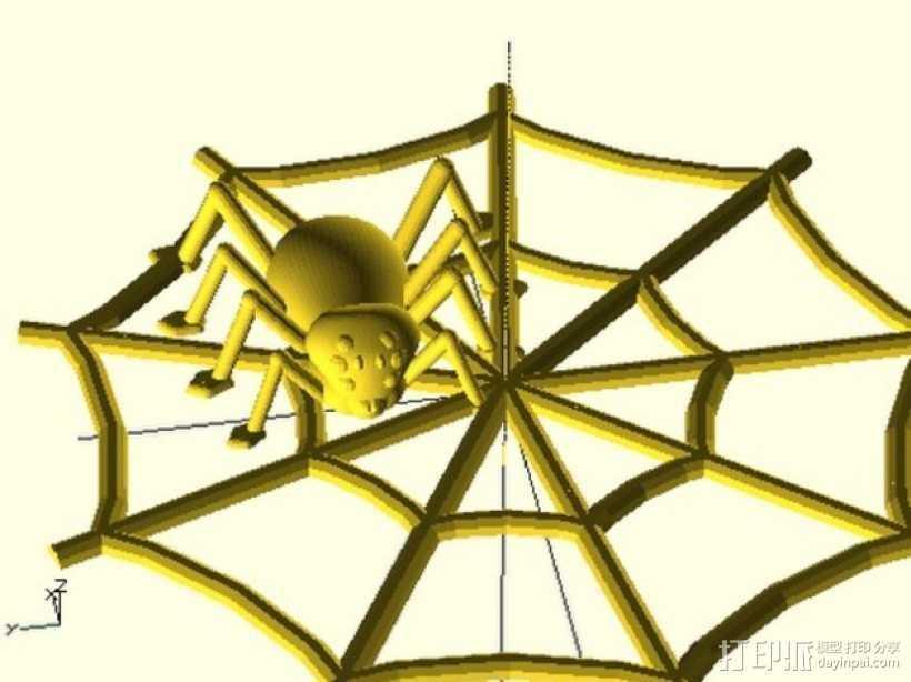 万圣节蜘蛛 蜘蛛网 3D打印模型渲染图