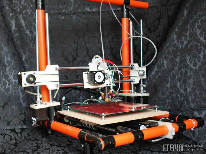 EchoRap Rev打印机的配件 3D打印模型渲染图