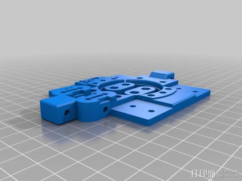 打印机X轴部件 轴承支架 3D打印模型渲染图