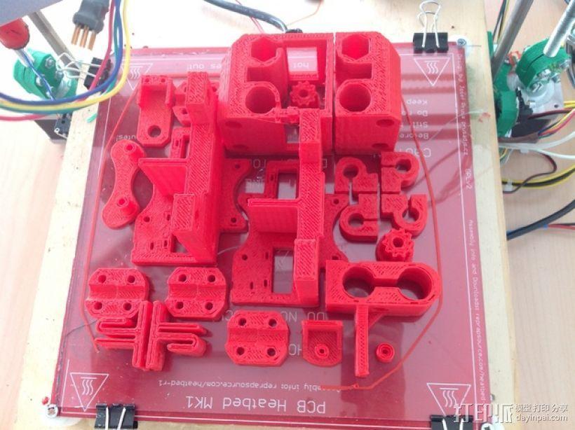 打印机底盘托架 3D打印模型渲染图