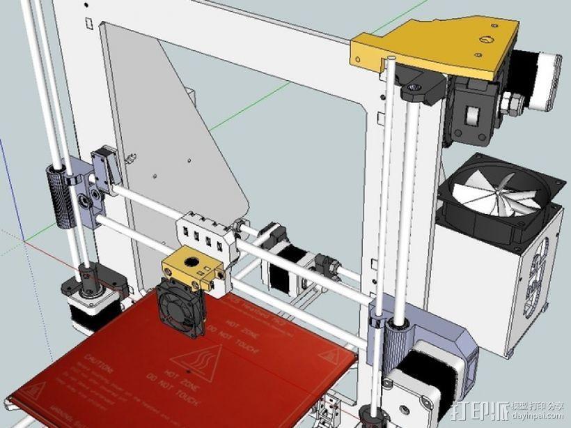 挤出机喷头支架 3D打印模型渲染图