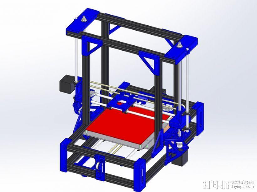 自制的3D打印机 3D打印模型渲染图