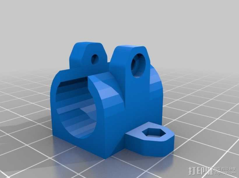 LM8UU轴承固定器 轴承套管 3D打印模型渲染图