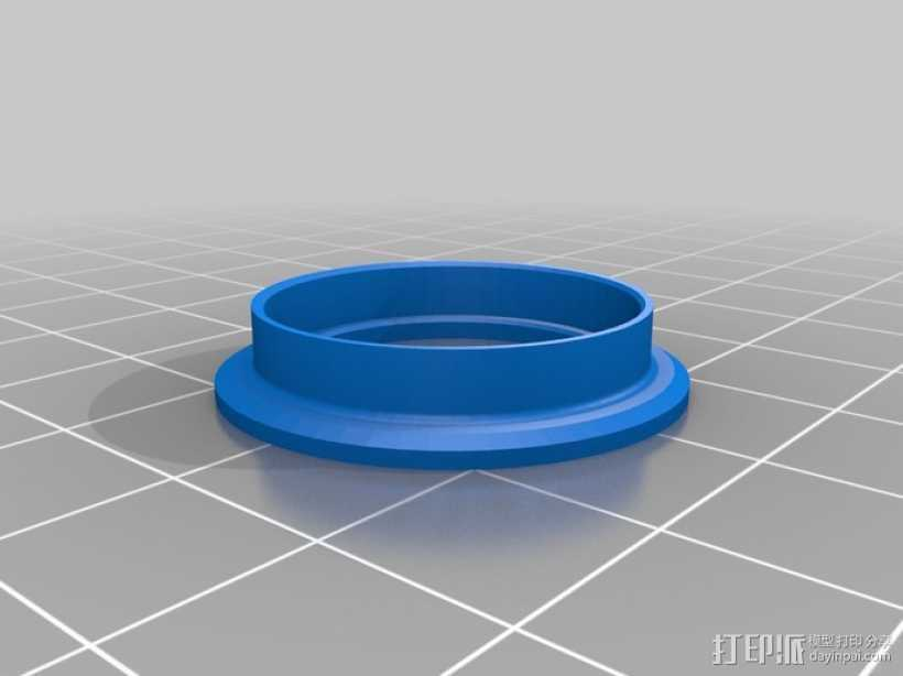 轴承凸缘 3D打印模型渲染图