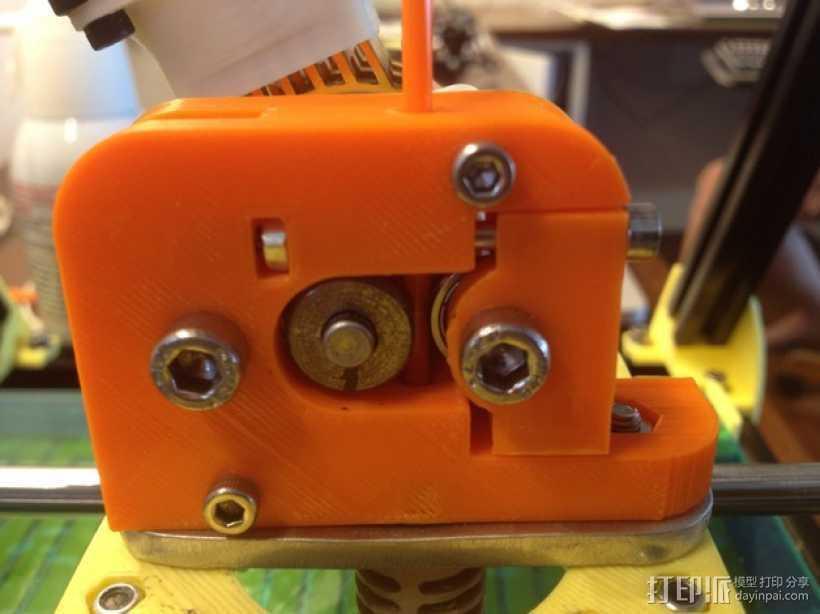 微型挤出机 3D打印模型渲染图