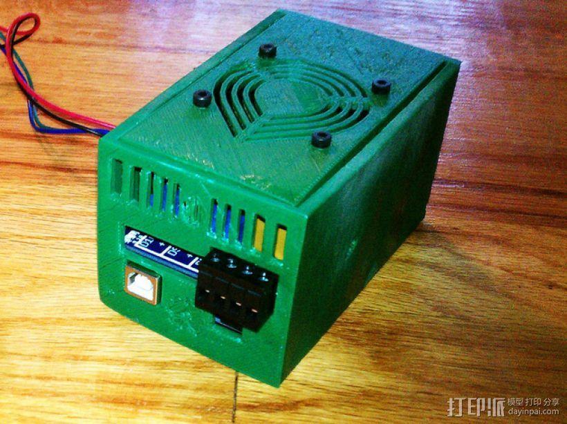 电路板保护罩 3D打印模型渲染图