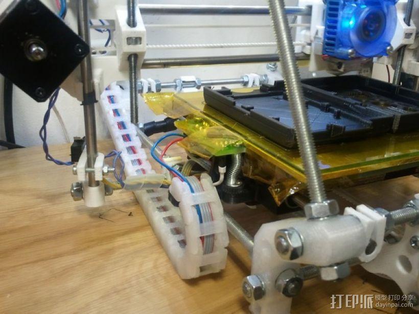 电缆锚链 3D打印模型渲染图
