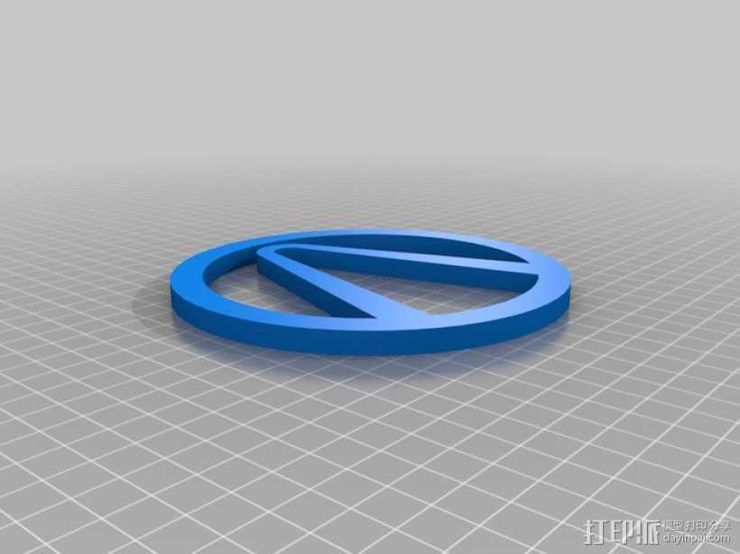 无主之地 标志 3D打印模型渲染图