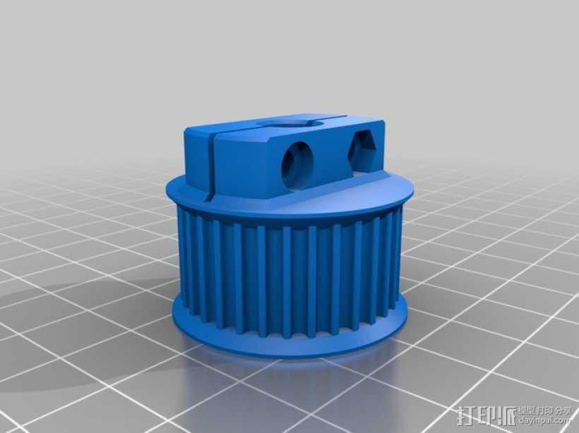 滑轮 3D打印模型渲染图